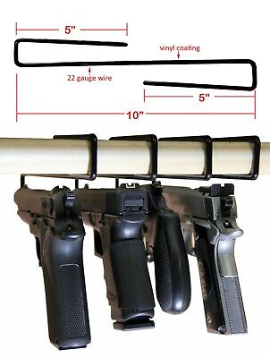 Lot of 5! Gun Safety Gun Storage Pistol/Handgun Rack Storage Solutions Hangers