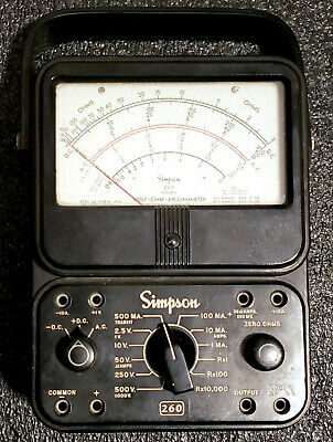 Simpson 260 Series 6 Analog Volt Ohm Milliammeter - Tested