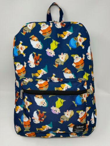NWT Loungefly Disney Snow White and the Seven Dwarfs Full-Size Nylon Backpack A
