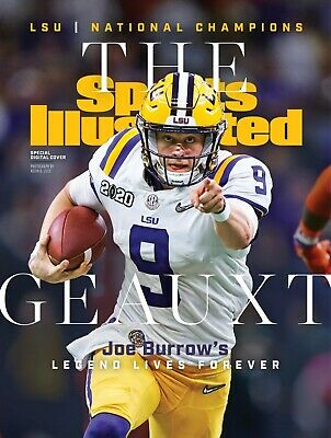 LSU Tigers Football National Champions Sports Illustrated (SI) Cover Photo