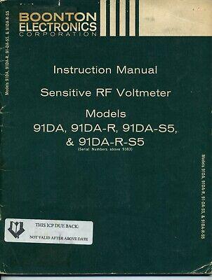 Boonton Electronics Corp 91da91da-r91da-s591da-r-s5 Instruction Manual
