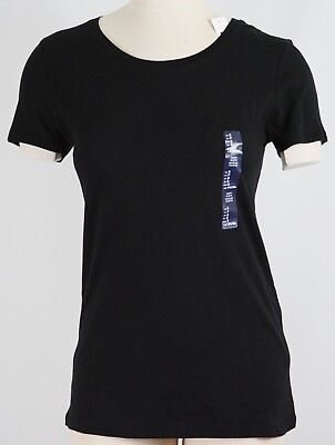 NWT Womens GAP Favorite Crew Neck T-Shirt True Black - 100940