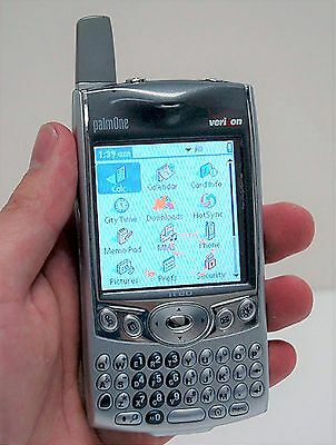 Palm Treo 600 Verizon Pda Silver Cell Phone Camera Internet Email Qwerty Keypad
