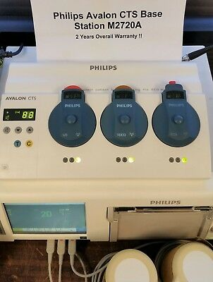 Philips M2720a Avalon Cts Base Station Fetal Telemetry 1999 - 2 Year Warranty