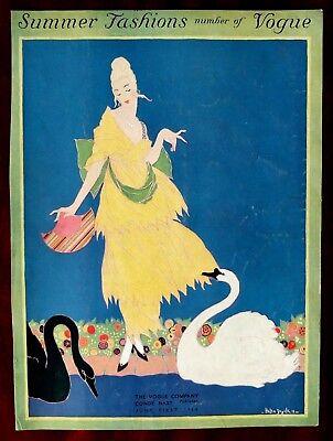 Vogue Magazine Original Cover Only ~ June 1, 1914 ~ Helen Dryden
