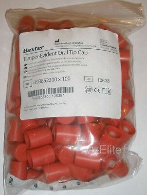 Baxter Baxa Exactamed Tamper Evident Oral Syringe Red Tip Caps 100pk 52300 Usa