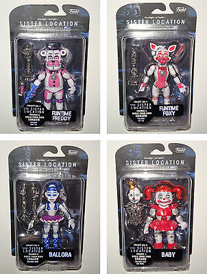 Set Of All 4 Sister Location   Five Nights At Freddys 6  Inch Figures Funko New