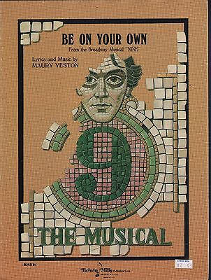 Be On Your Own 1982 9 The Musical  Sheet Music