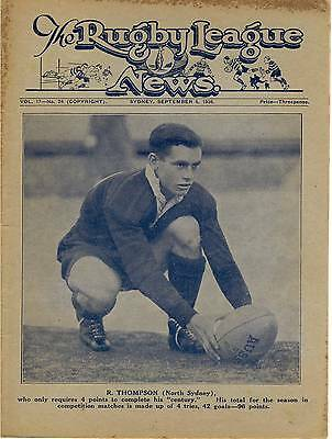 1936 No.24 Ray Thompson from North Sydney on the cover