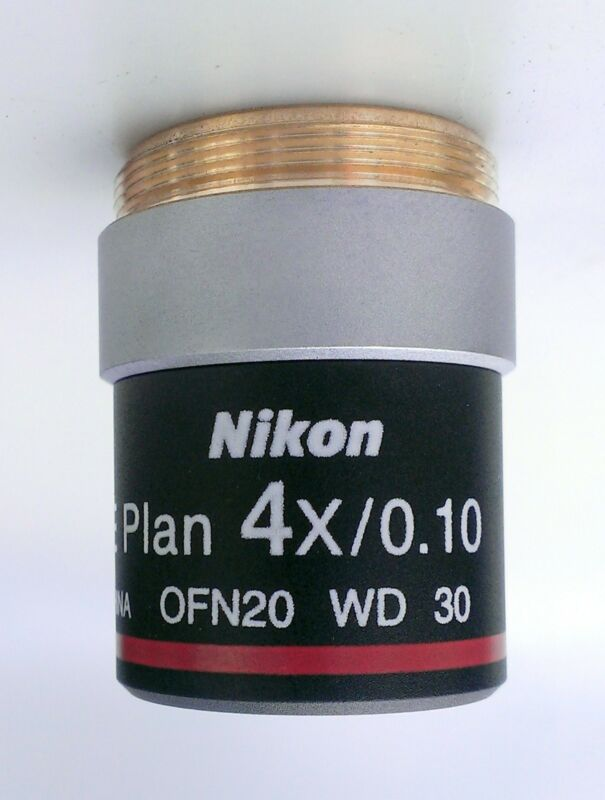 4X E Plan Nikon Microscope Objective