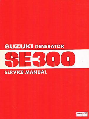 Official SUZUKI generator SE300 Service Manual -1980