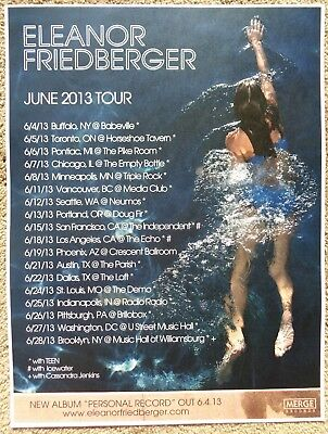 ELEANOR FRIEDBERGER 2013 Tour POSTER Gig USA Concert