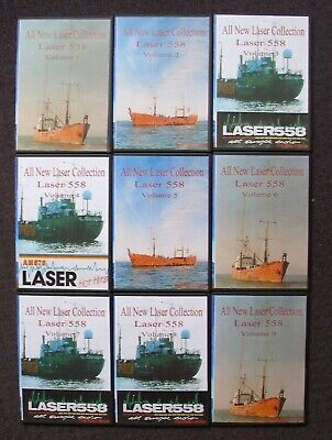 Laser 558 & 576 9 disks available Pirate radio from the 1980's