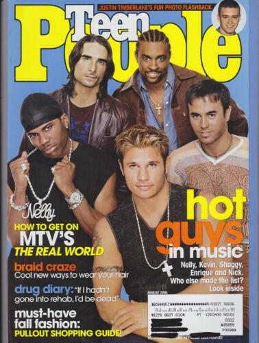 Teen People Magazine - Kevin Richardson Nick Lachey Enrique Iglesias - Aug 2001