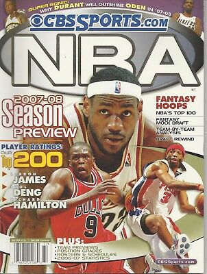 Cbs Sports Com 2007   08 Season Preview Fantasy Hoops Magazine Only   Read
