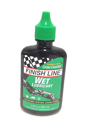 Finish Line Wet Cross Country Bike Bicycle Chain Lube 2Oz