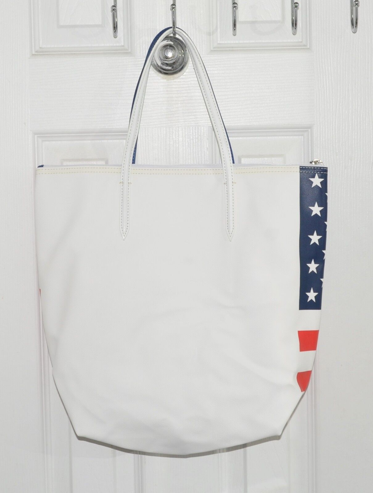 1aabf73635 ... Lacoste Concept Flag America USA Tote Bag Red White Blue Stars Stripes  NF0361FL фото ...