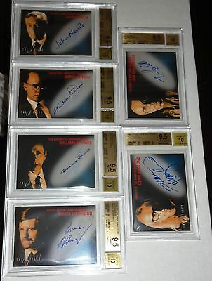 X-Files Fight the Future BGS 9.5 GEM MINT Set Autograph Signature SKINNER 1998