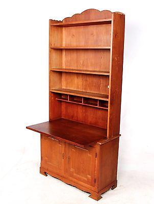 Antique Oak Secretaire Bureau Bookcase Secretaire Danish Victorian Writing Desk