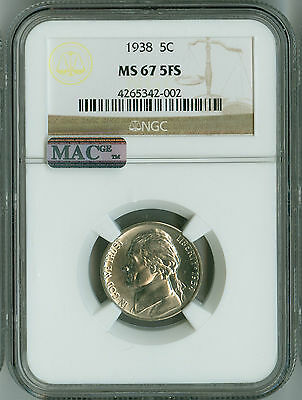 Click now to see the BUY IT NOW Price! 1938 NGC MS67 5 FS STEPS MAC PQ JEFFERSON NICKEL POP 4 NONE FINER !