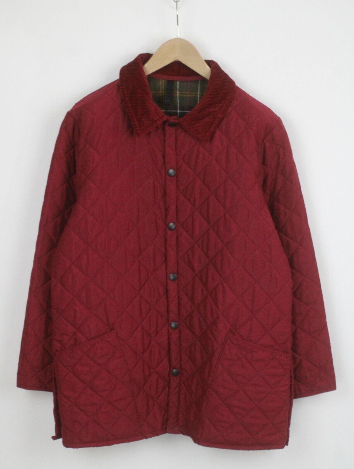 Barbour d894 classique eskdale hommes grand matelassé snap velours bordure veste