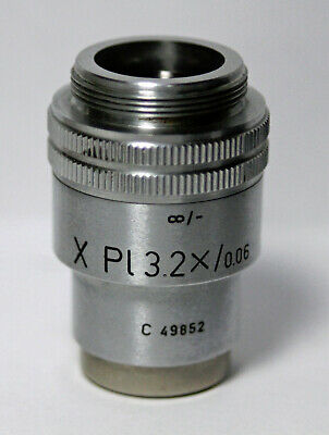Leitz Wetzlar X Pl 3.2x0.06 Microscope Objective Lens Clean W Warranty Leica