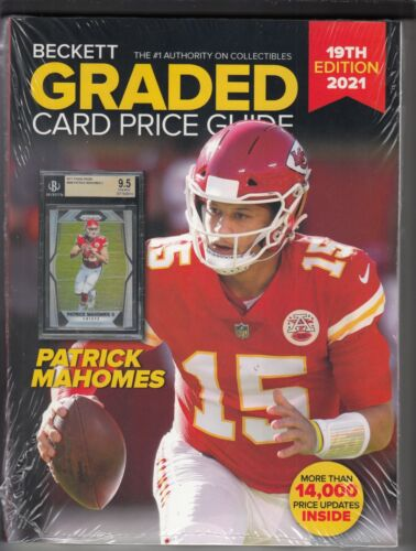Beckett Graded Card Price Guide 19th 2021 Edition with Patrick Mahomes on Cover