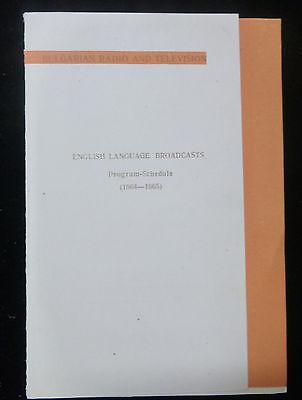 SCHEDULE CARD FROM RADIO SOFIA - BULGARIA - ENGLISH LANGUAGE 1964-1965 - 1 OWNER