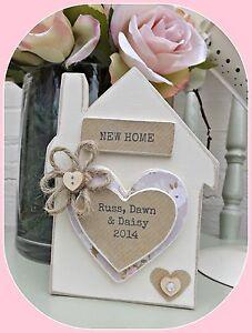 HANDMADE PERSONALISED STANDING HOUSE BLOCK NEW HOME GIFT