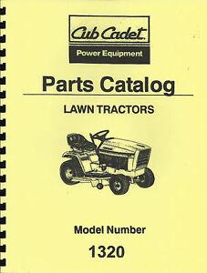 cub cadet lt1022 parts manual