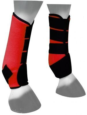 Showman RED Neoprene Horse Sport Boots For Front or Hind Legs! NEW HORSE (Neoprene Front Boots)
