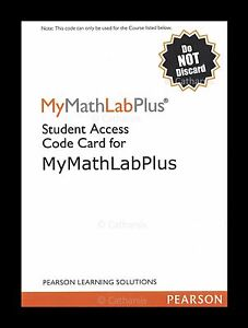 Access the MyMathLab Courses for Cheap or FREE though unique generated code given robyeread.mlLab refers to an online based interactive educational system that was designed by the renowned Pearson Education to accompany the math textbooks that they publish.. You can buy Access Code from robyeread.ml for cheap. They give you instant access to your course and books.