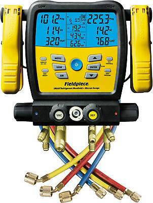 Fieldpiece Sm480v - Four Port Wireless Sman Manifold With Micron Gauge And Yell