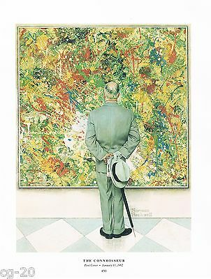 "Norman Rockwell Jackson Pollock print ""THE CONNOISSEUR"" / ""ABSTRACT AND CONCRETE"