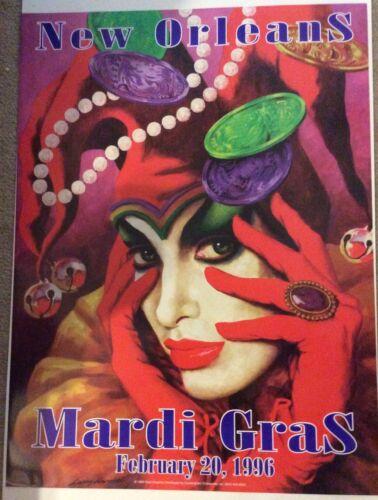 Mardi Gras Poster 1996 Larry Harris {NEW}