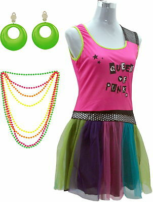 80er Jahre Sexy Party Karneval Kostüm Damen Frau 80s Verkleidung Kleidung