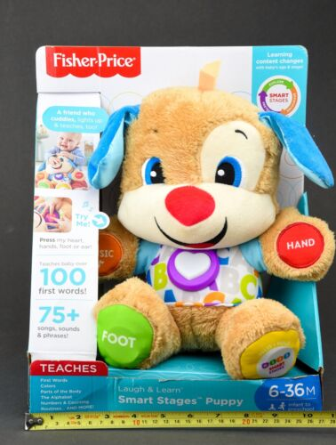 Fisher-Price Laugh & Learn Smart Stages Puppy-75+ Songs & Sounds-(FDF21)