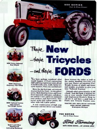 "Ford 900 Series Tractor 9"" x 12"" Sign"