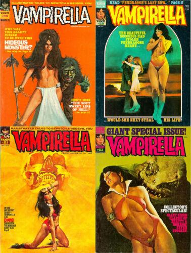 114 OLD ISSUES OF VAMPIRELLA COMIC HORROR SUPERHEROINES SEXY ART MAGAZINE ON DVD