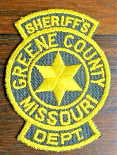 GEMSCO NOS Vintage Patch - SHERIFF GREENE COUNTY MO -  40+ year old