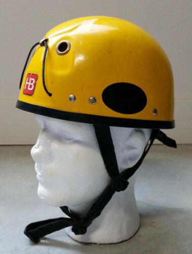 Vintage HB Alpinist Climbing Caving Helmet Yellow - Hugh Banner Mountain Rock