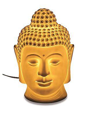 Tischlampe Buddha Kopf aus Porzelan