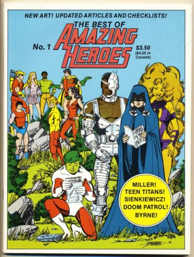 BEST OF AMAZING HEROES #1 VF, George Perez Titans, Fanzine, Fantagraphics 1982