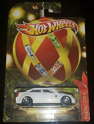 2011 Hot Wheels HOLIDAY HOT RODS CADILLAC CTS-V white