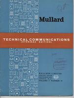 Mullard - Technical Comunications - Volume 2 - Number 13 -  - ebay.es