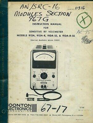 Boonton Electronics 91da91da-r91da-s591da-r-s5 Instruction Manual