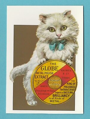 ADVERTISING  -  ROBERT  OPIE  POSTCARD  -  GLOBE  METAL  POLISH  ( B )