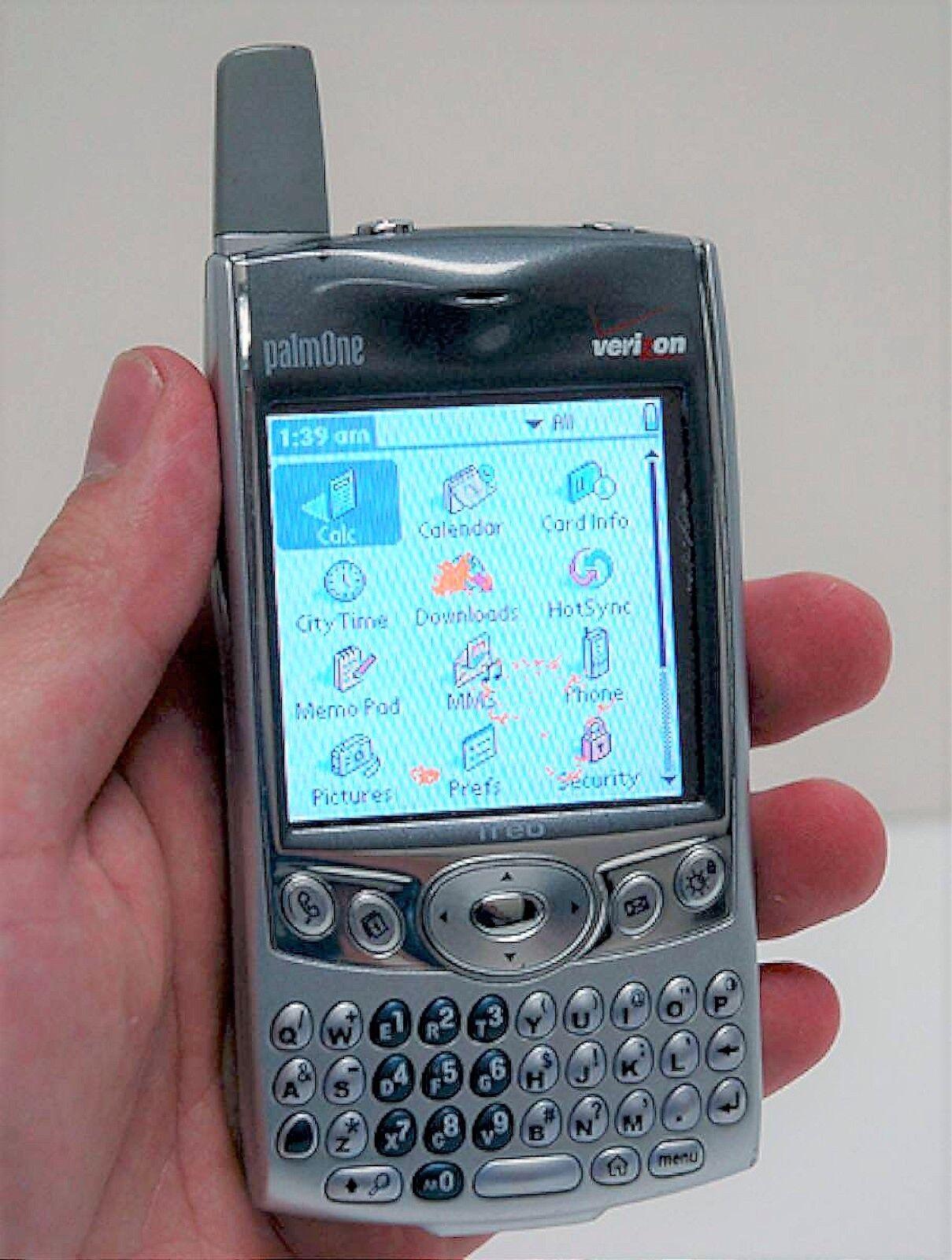 palm treo 600 verizon pda silver cell phone w camera internet web rh ebay com Palm Treo 300 Palm Treo 300