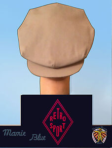 CASQUETTE-ANCIENNE-OLD-CAP-1930-1940-GABARDINE-Laine-melangee-BEIGE-Mixed-Wool
