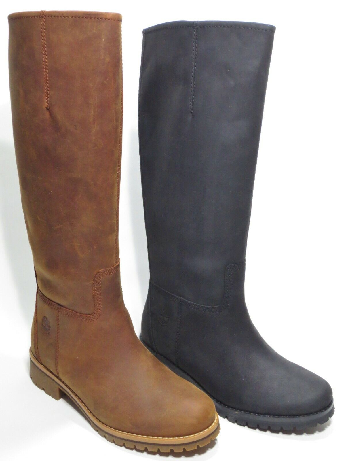 Timberland Womans Main Hill Premium Leather Tall Boots Black Brown A1RTG A1RT5
